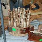 Lace Bobbins - made of plum wood 2